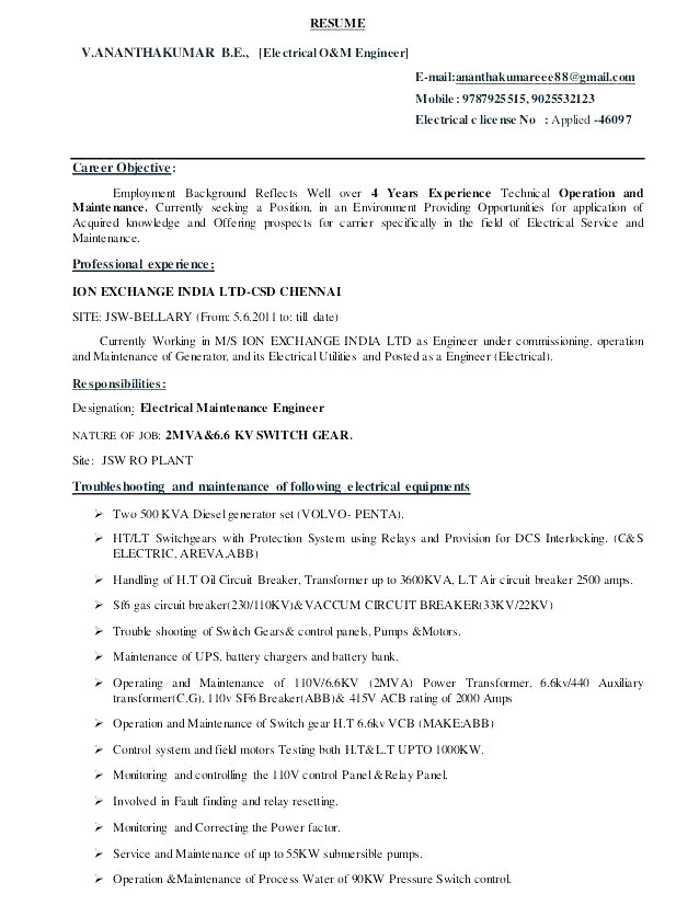 resume stationary
