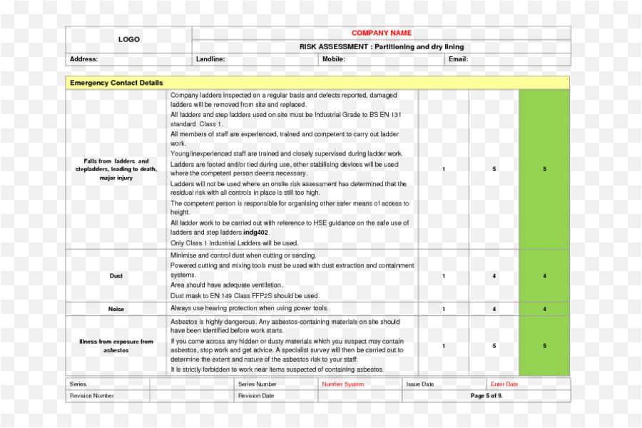 issue based risk assessment template