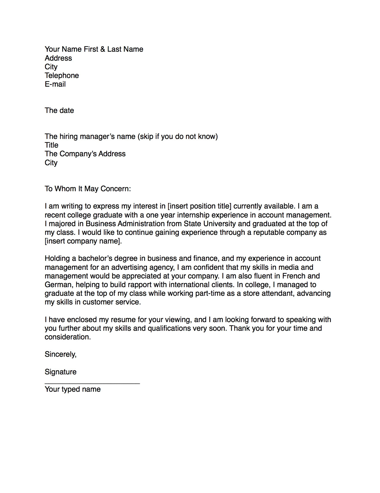 steps on how to write a cover letter