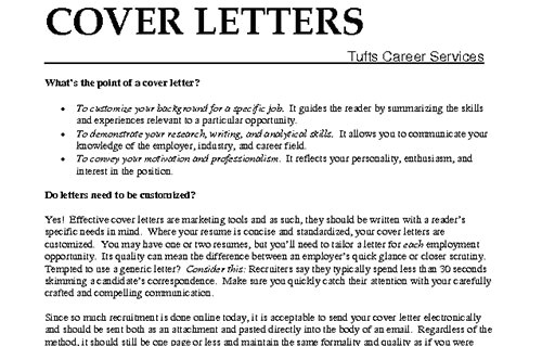 steps to write a cover letter