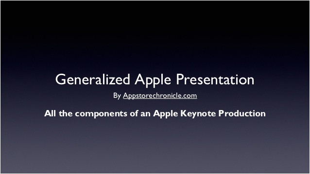 a generic apple steve jobs style keynote address presentation