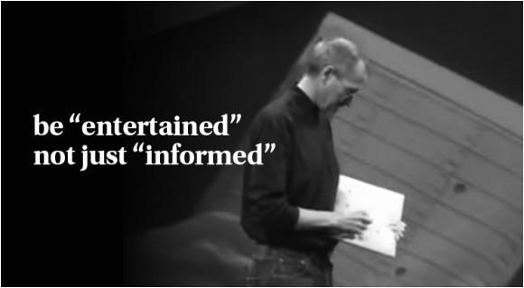 steve jobs made powerpoint presentation
