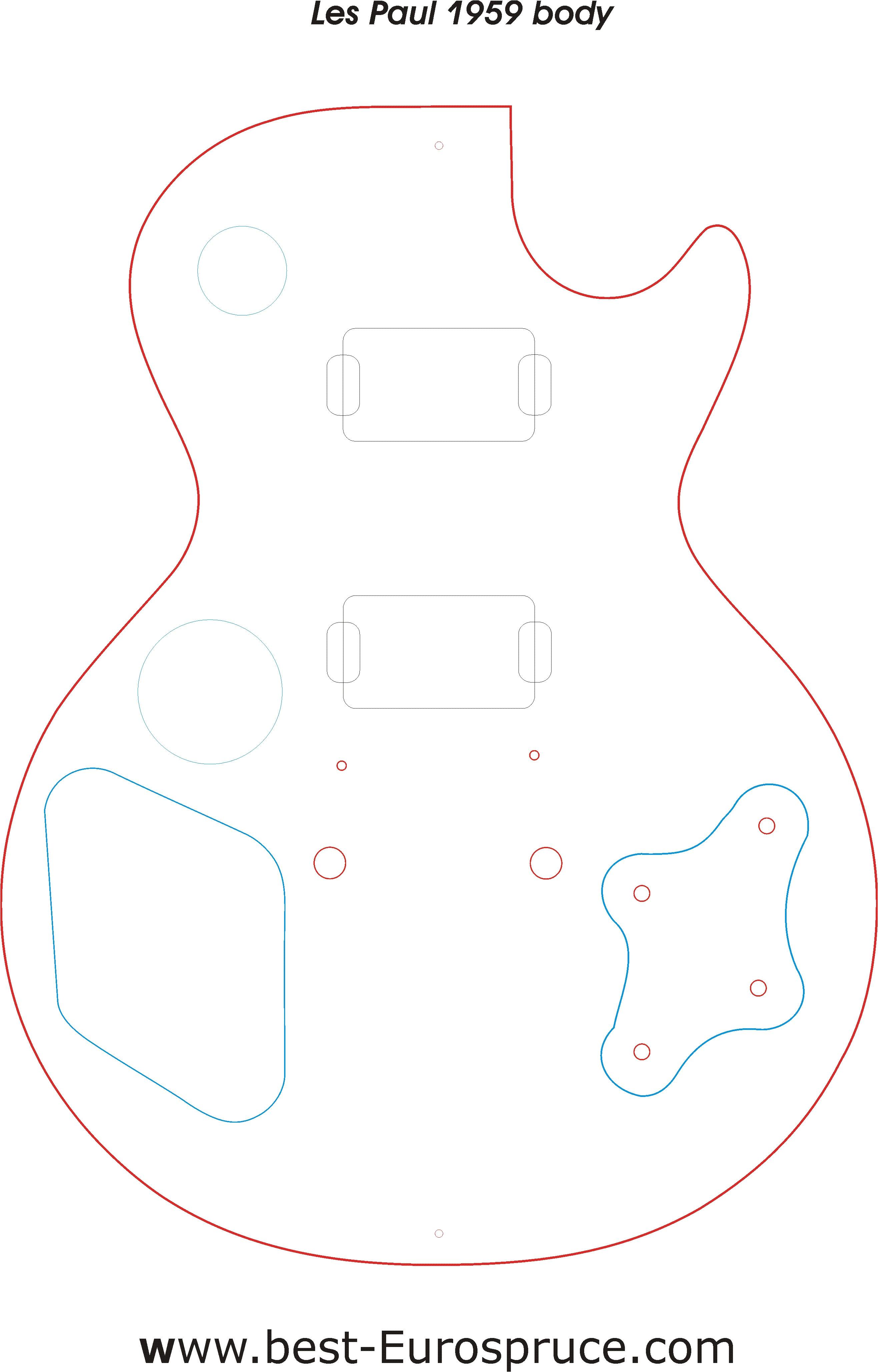 telecaster body templates