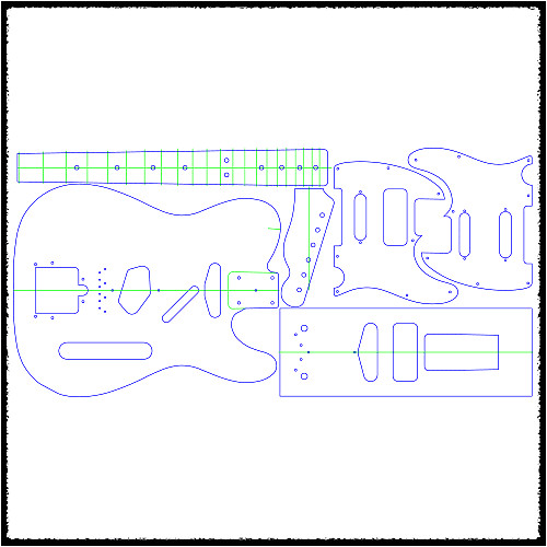 4311508 telecaster guitar routing templates 1 4 clear acrylic