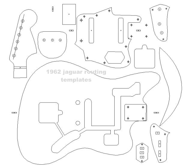 2051678 fender 62 jaguar blueprint routing template guitar body building