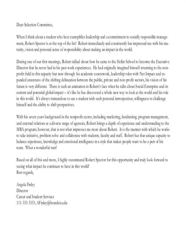 sample reference letter work ethic
