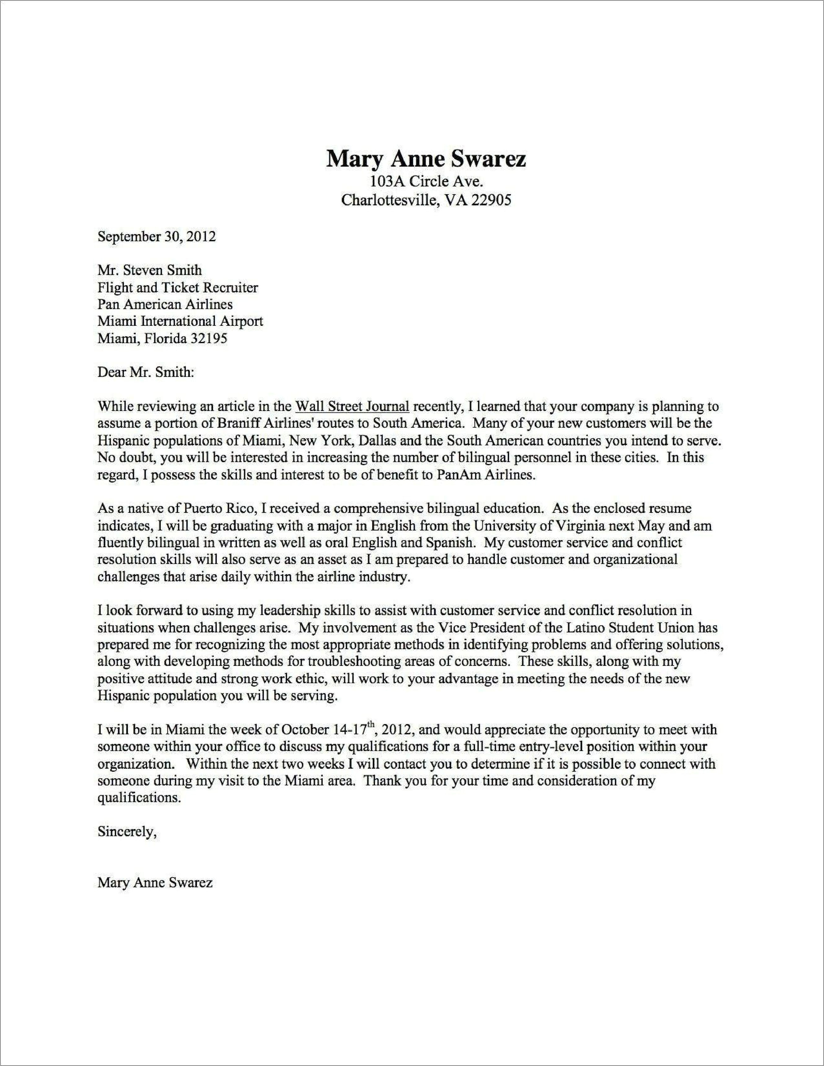 cute cover letter template