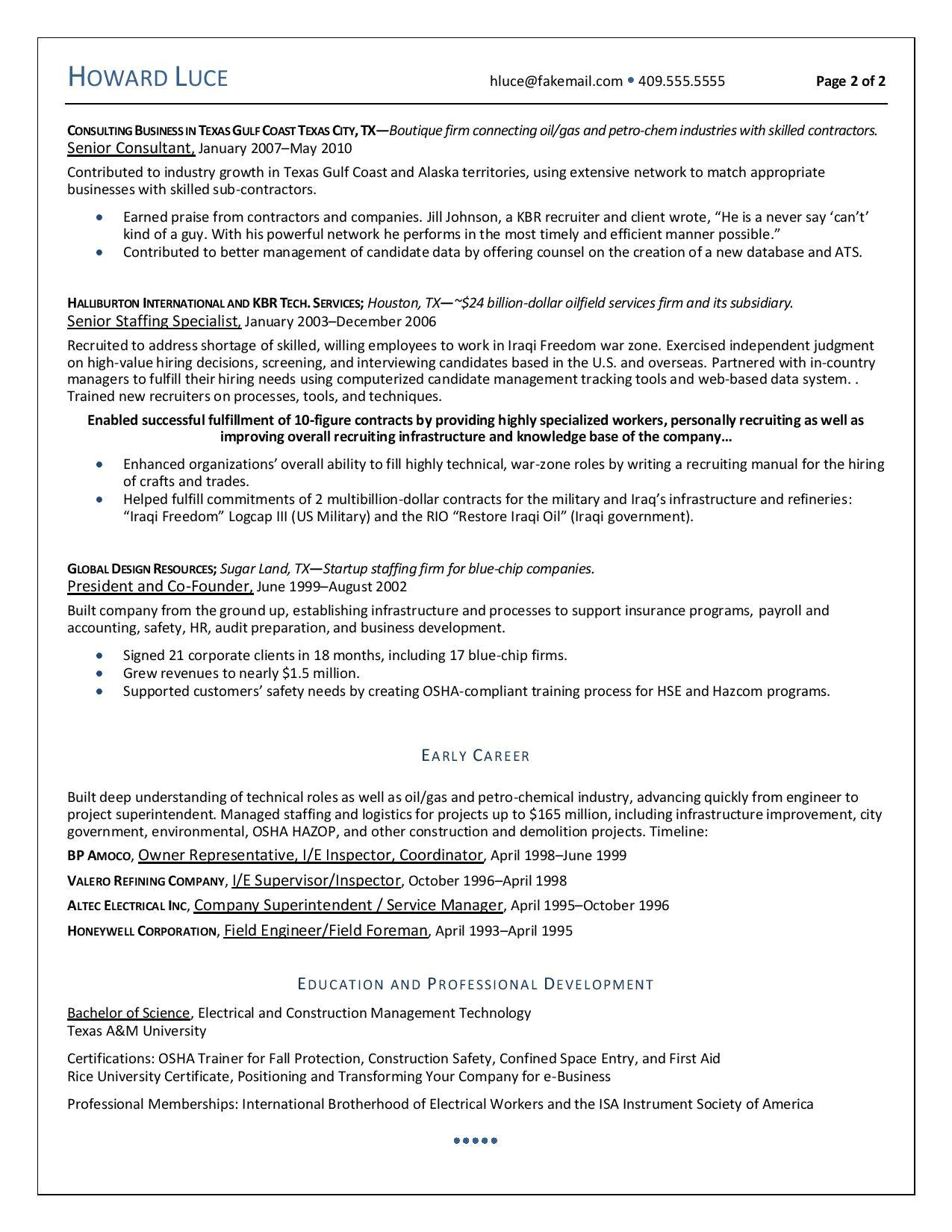 subject matter expert resume samples