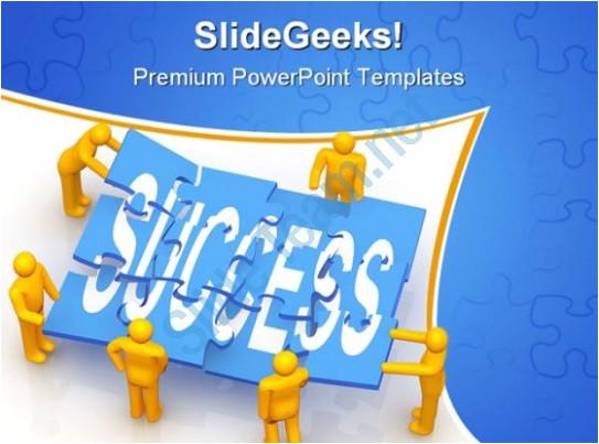 success teamwork powerpoint template 0610