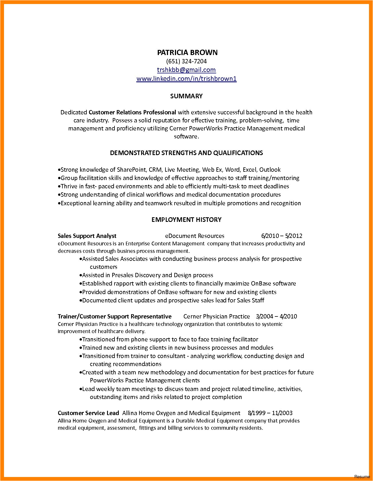 customer service summary example resume summary for customer service qualifications 0a