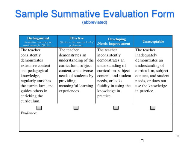 summative assessment template