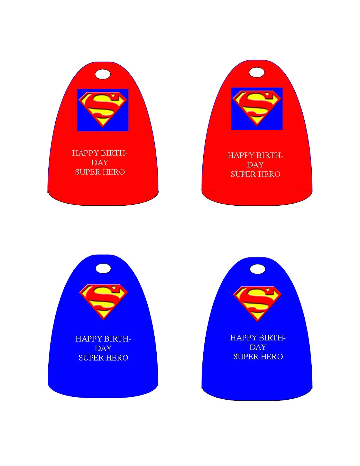 super hero template for birthday partys