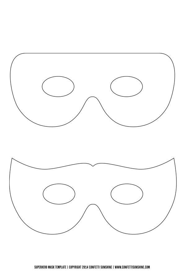 Superhero Mask Template for Kids Super Hero Mask Free Template Things to Make