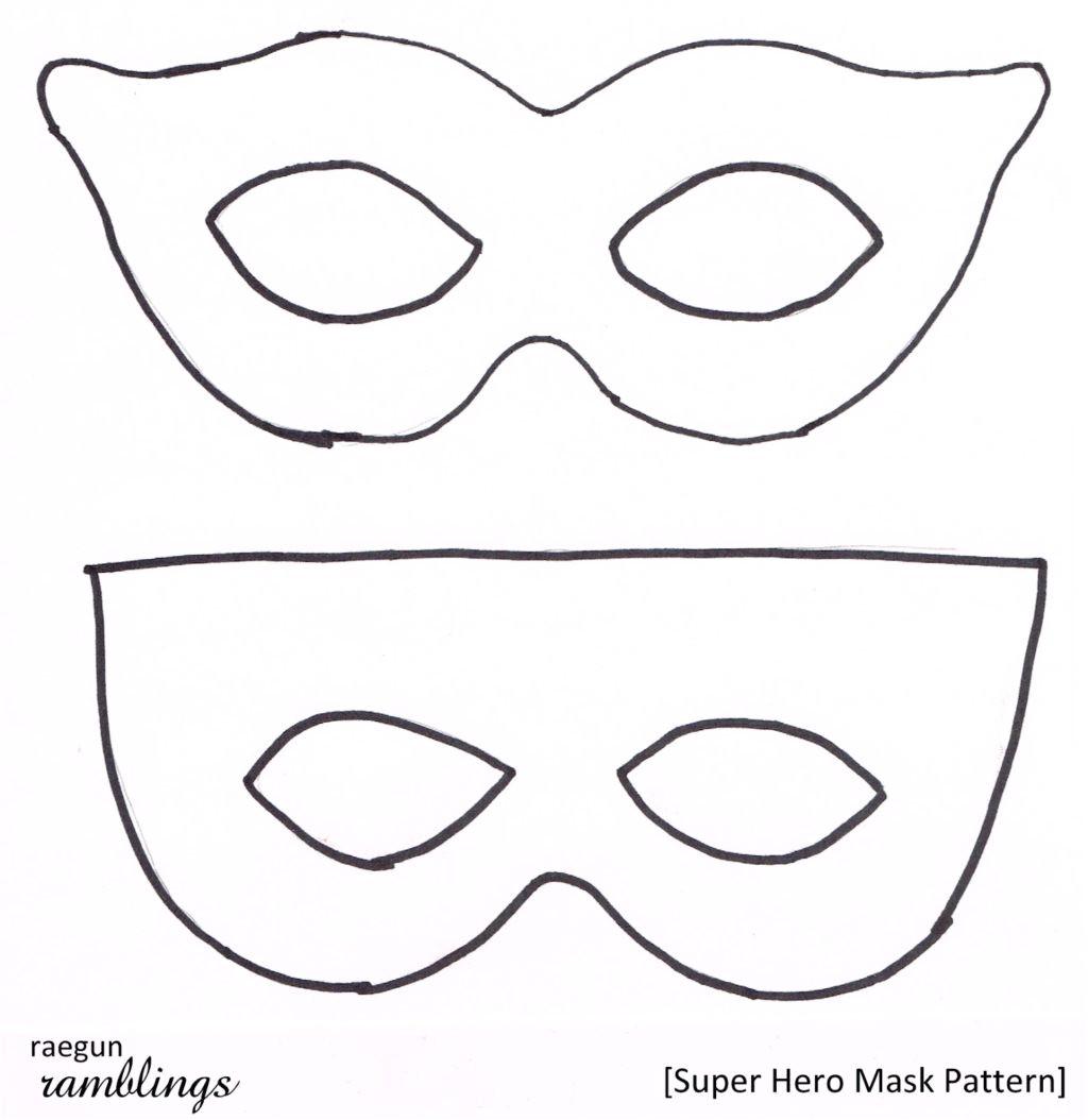 superhero eye mask template printable mask templates printable
