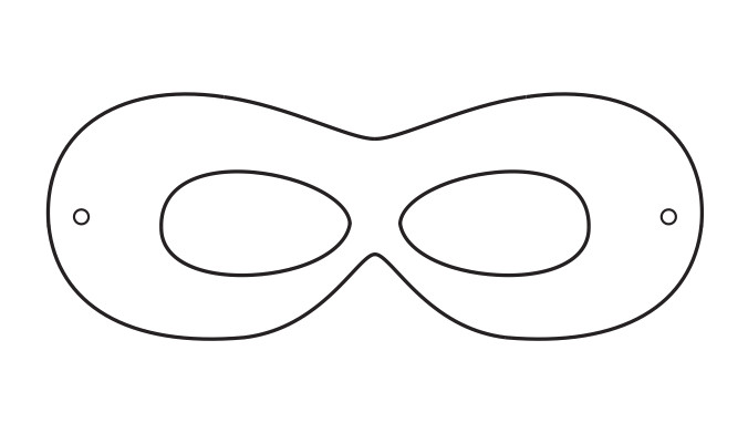 Superhero Mask Template for Kids Superhero Printables