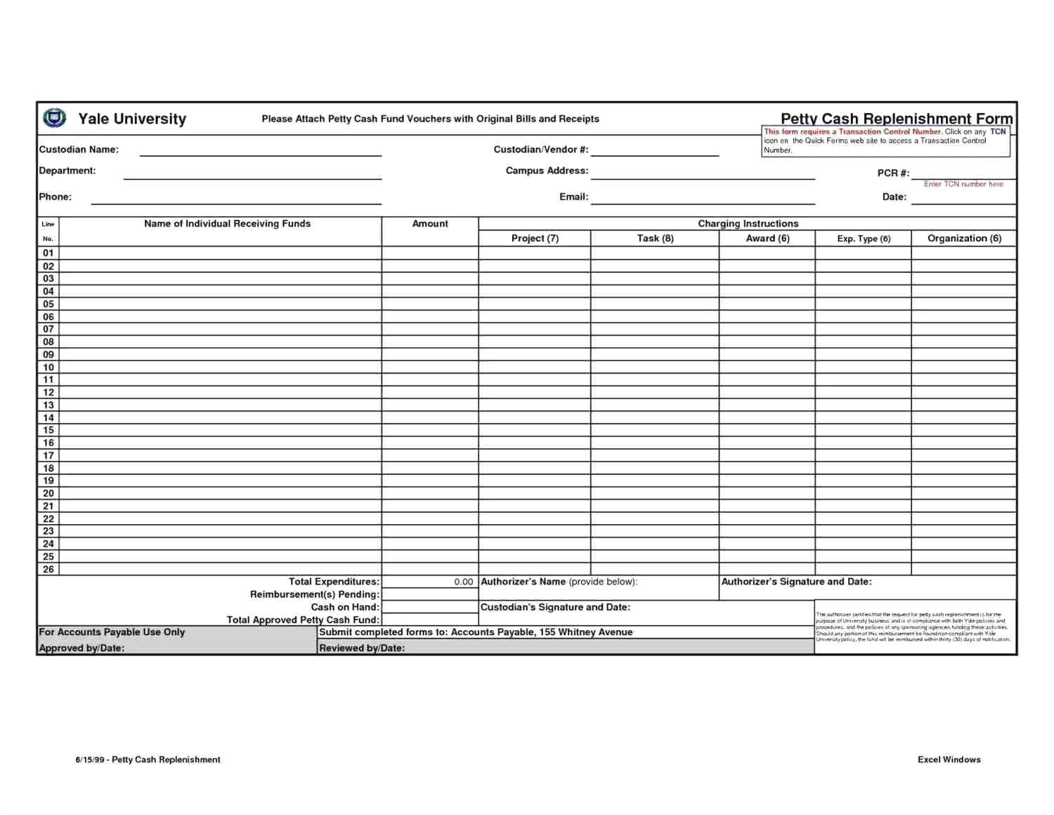 reconciliation template excel