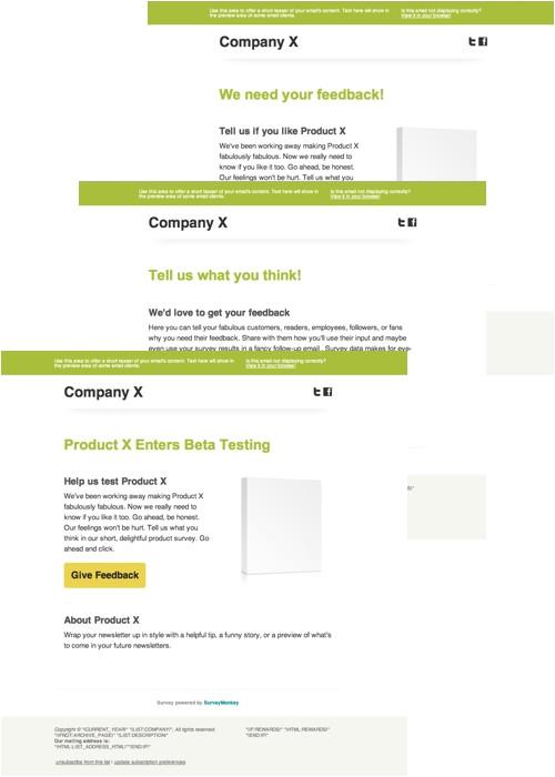 survey monkey templates for mailchimp
