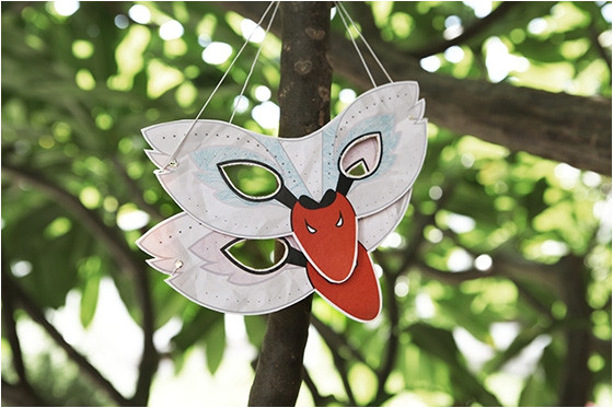 free printable little swan masks