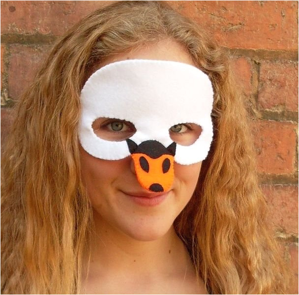 fresh halloween swan mask a unique product by lupin on dawanda swan mask template