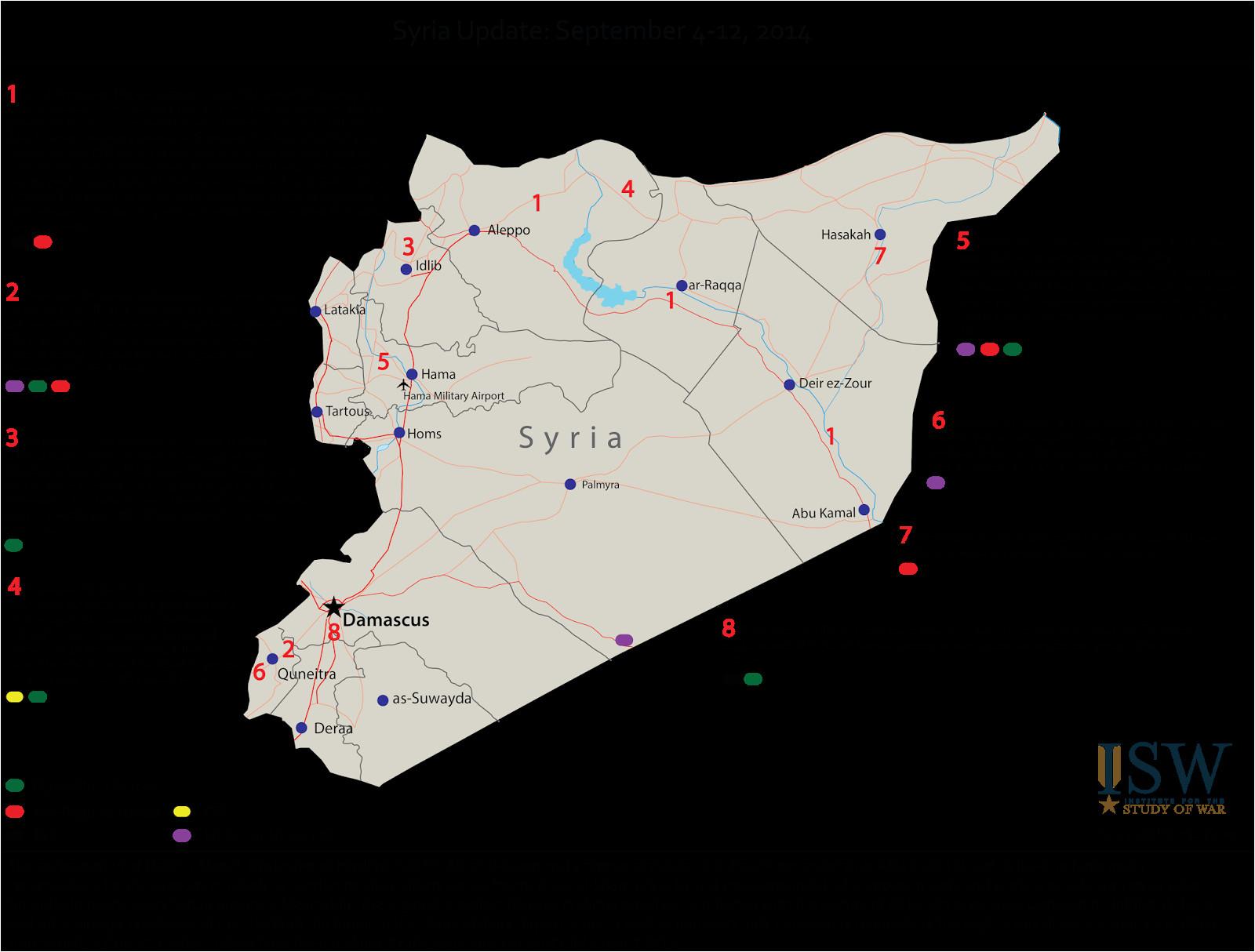template map syria iraq