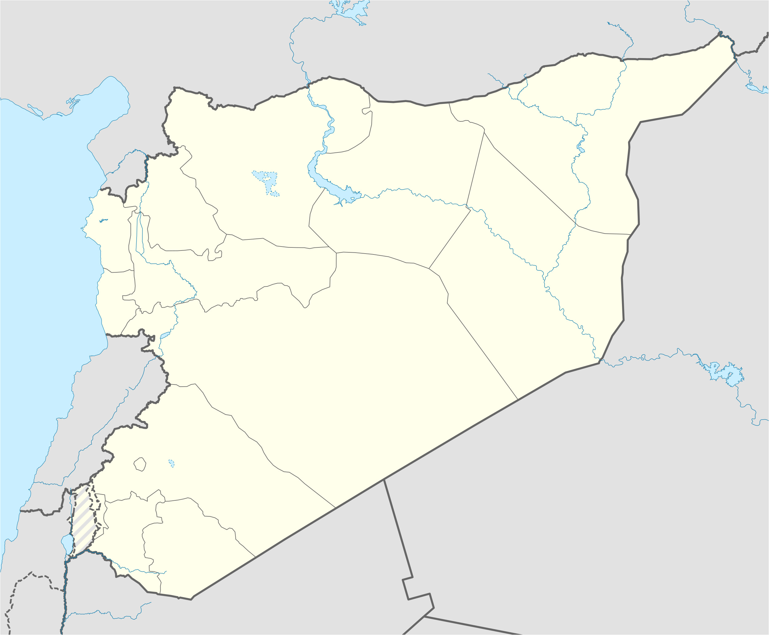 Syria War Template Template Syrian Civil War Detailed Map Wikipedia