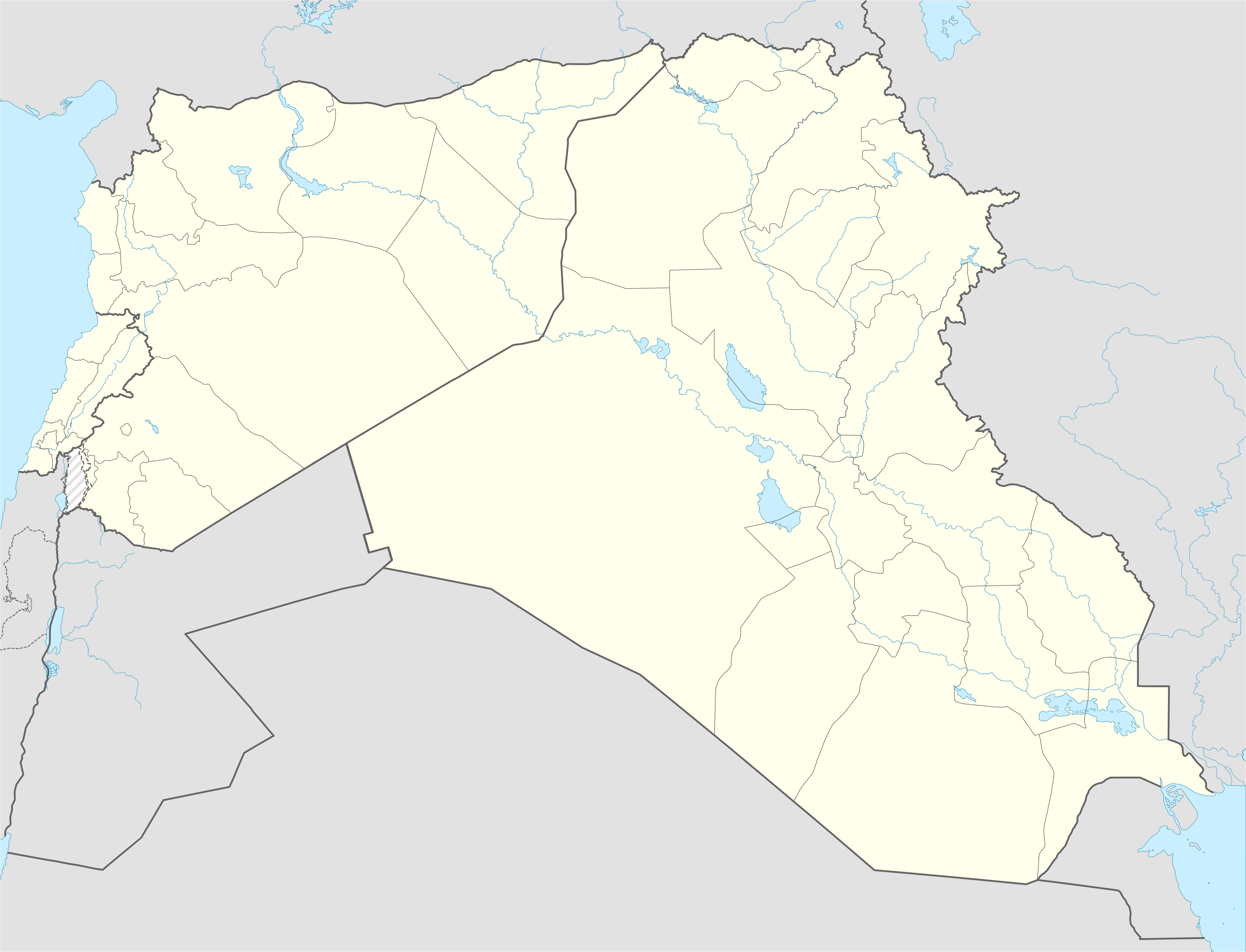 template syrian iraqi and lebanese insurgencies detailed map