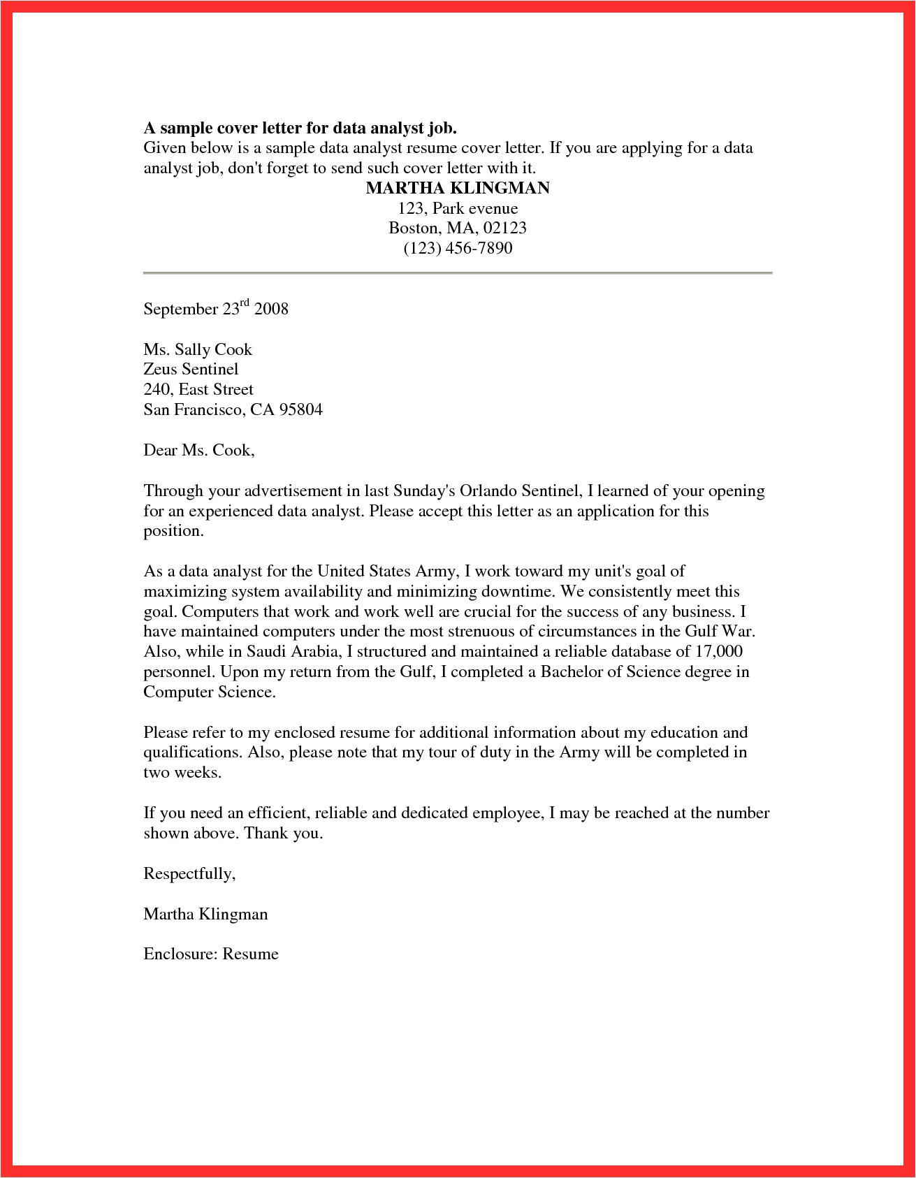 t chart cover letter