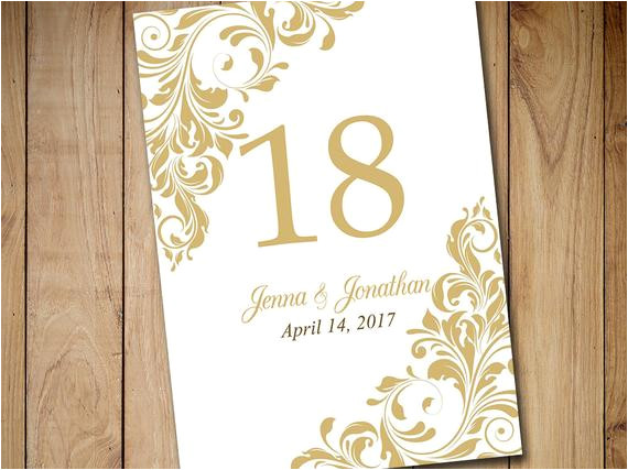 printable wedding table number template