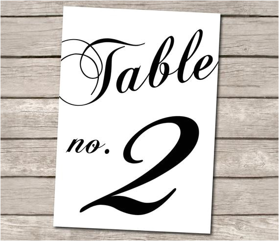 Table Numbers for Wedding Reception Templates Unavailable Listing On Etsy