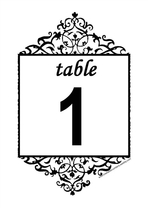 Table Numbers Template for Weddings 6 Best Images Of Printable Table Number Templates Free