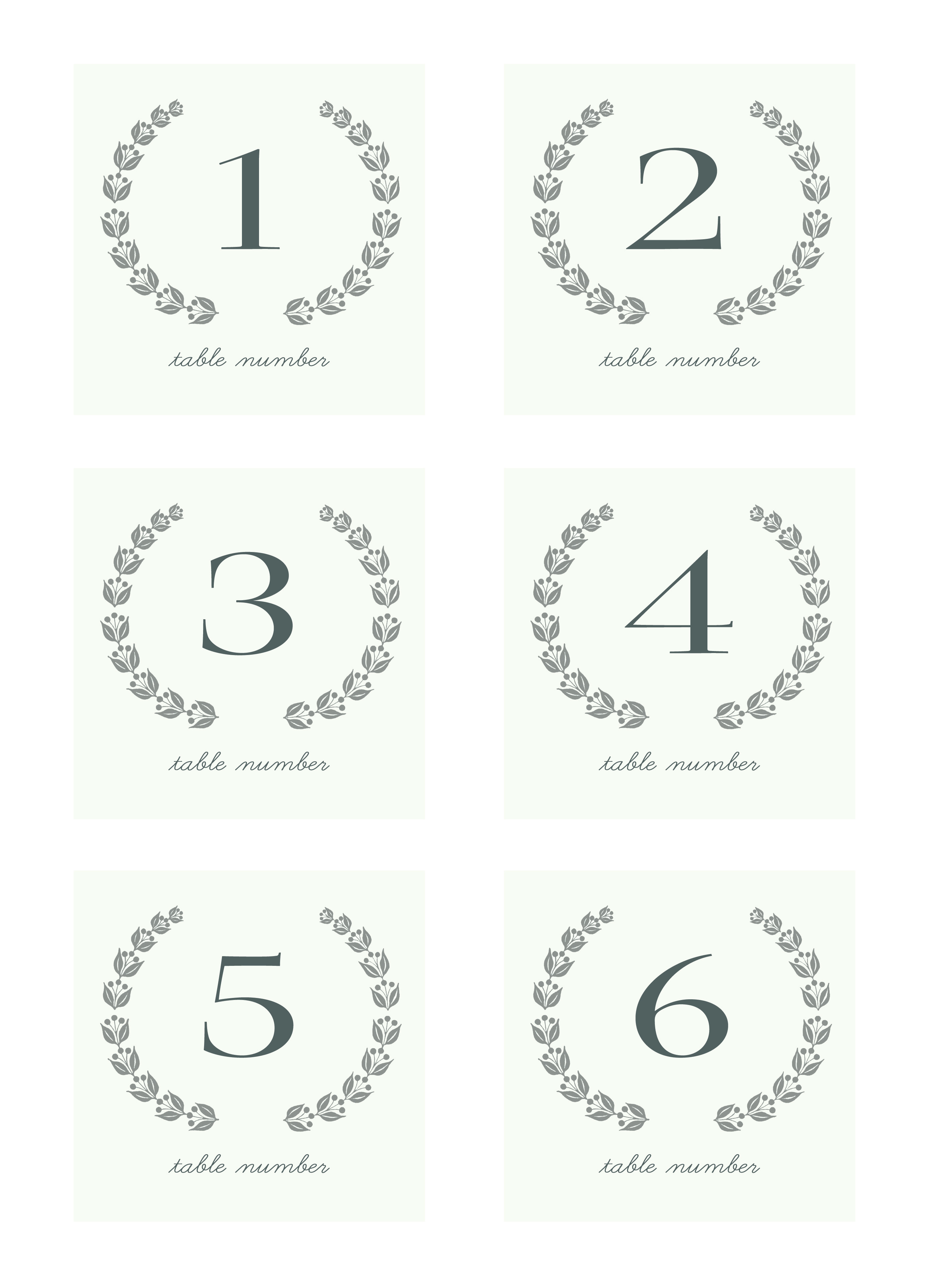 Table Numbers Template for Weddings 7 Best Images Of Table Numbers Free Printable Template