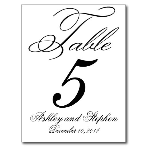 Table Numbers Template for Weddings Best Photos Of Free Downloadable Table Numbers Card Free