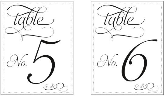 Table Numbers Template for Weddings Printable Table Number Templates Vastuuonminun