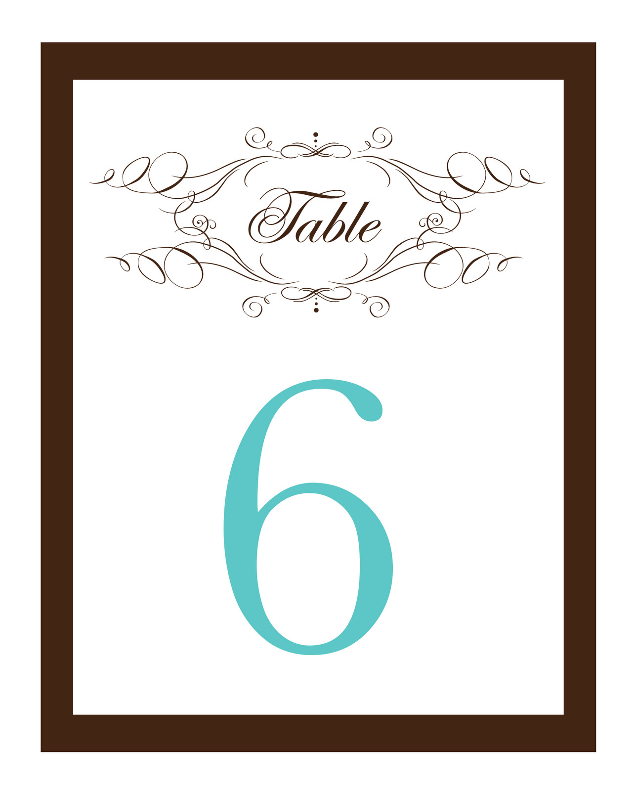 Table Numbers Template for Weddings Table Number Template Madinbelgrade