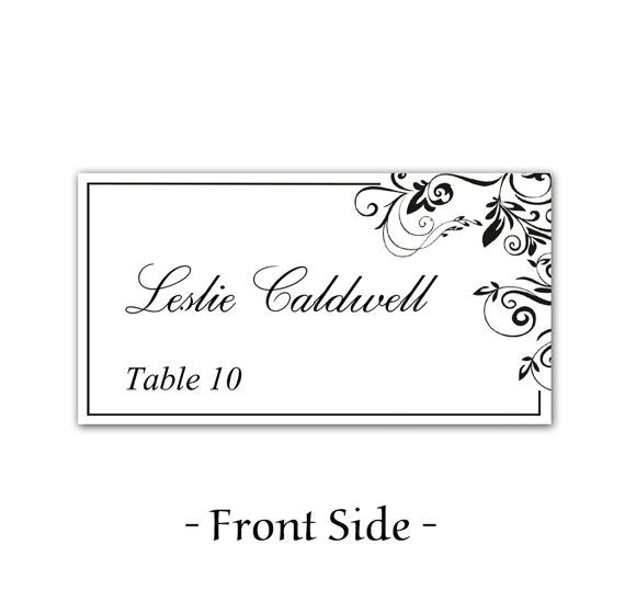 Table Placement Cards Templates 49 Best Images About Place Card On Pinterest Wedding