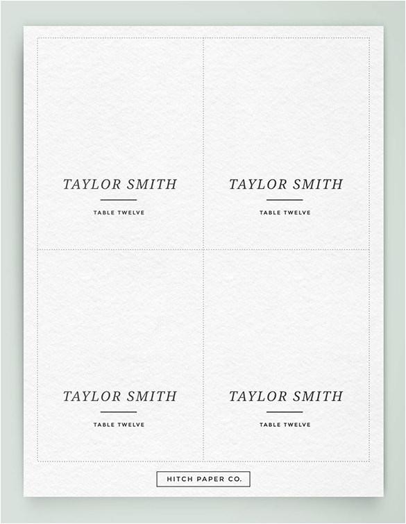sample name card