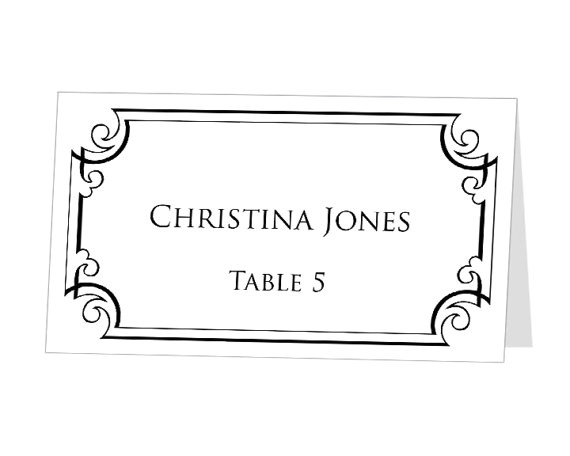 seating place cards template