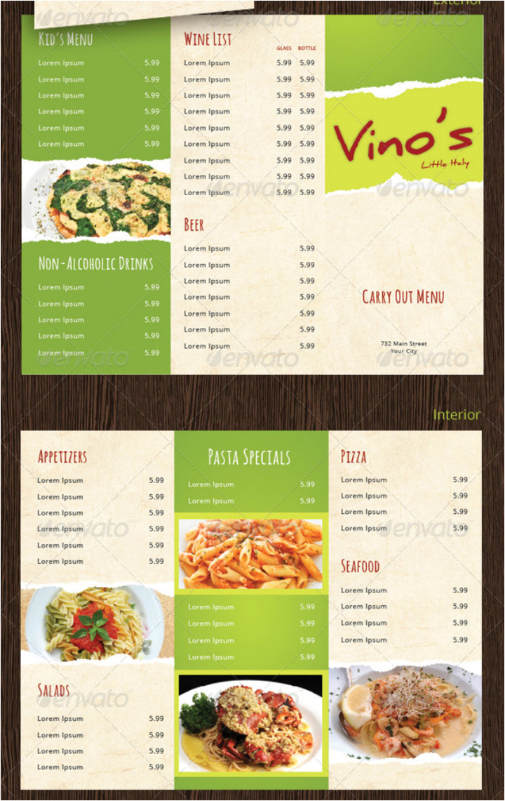 takeaway menu designs