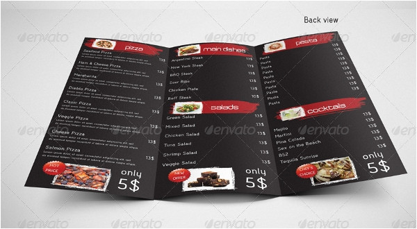 takeaway menu template