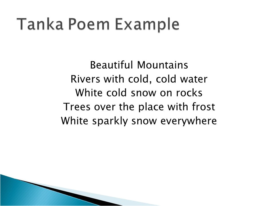 Tanka Poem Template Haiku Tanka Cinquain and Diamante Ppt Video Online