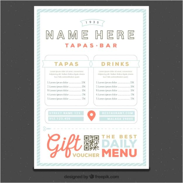 restaurant menu template in retro style 1042371