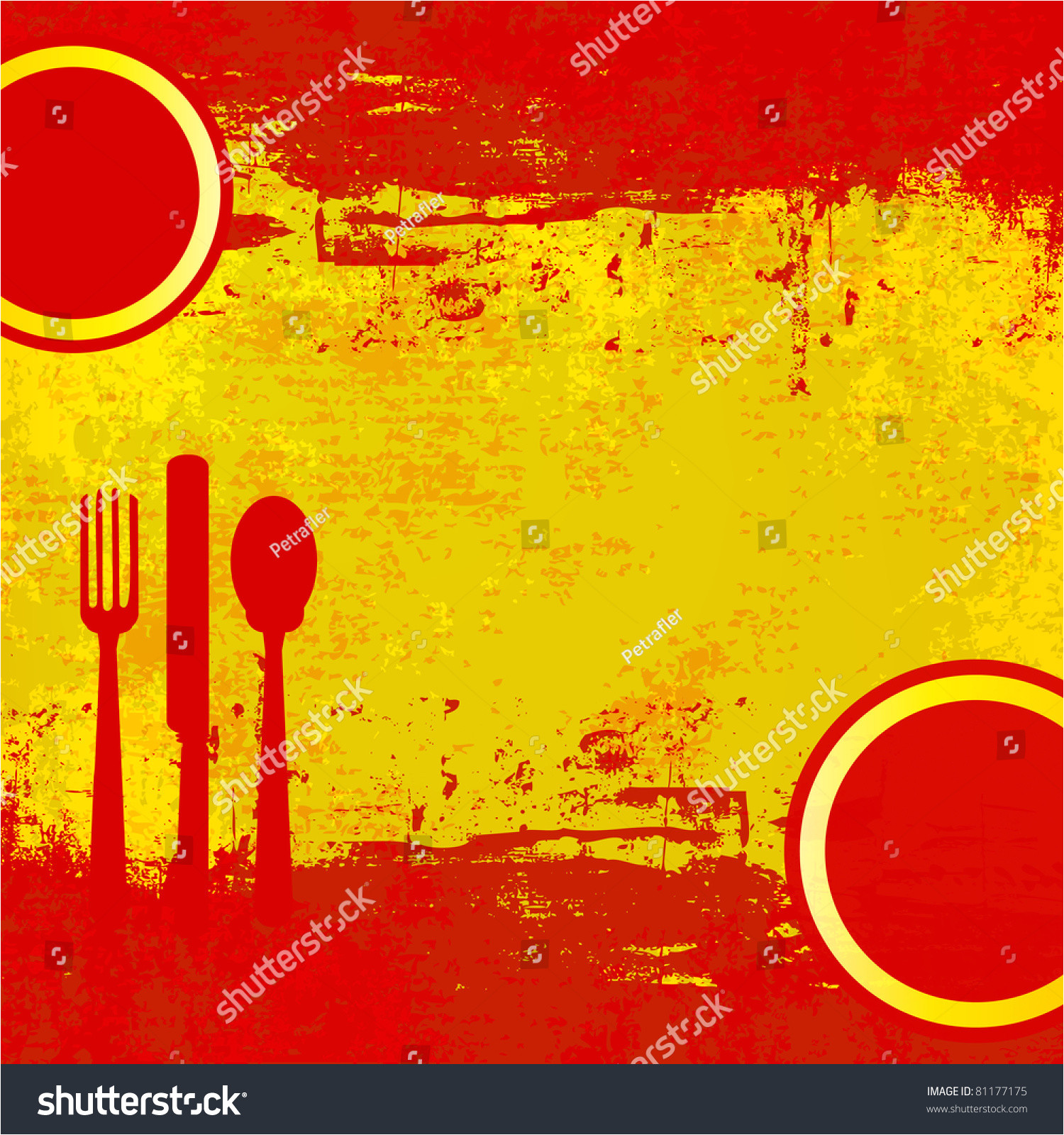 stock photo spanish menu template over flag of spain