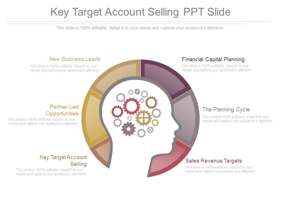 Target Account Selling Template Key Target Account Selling Ppt Slide Powerpoint Shapes