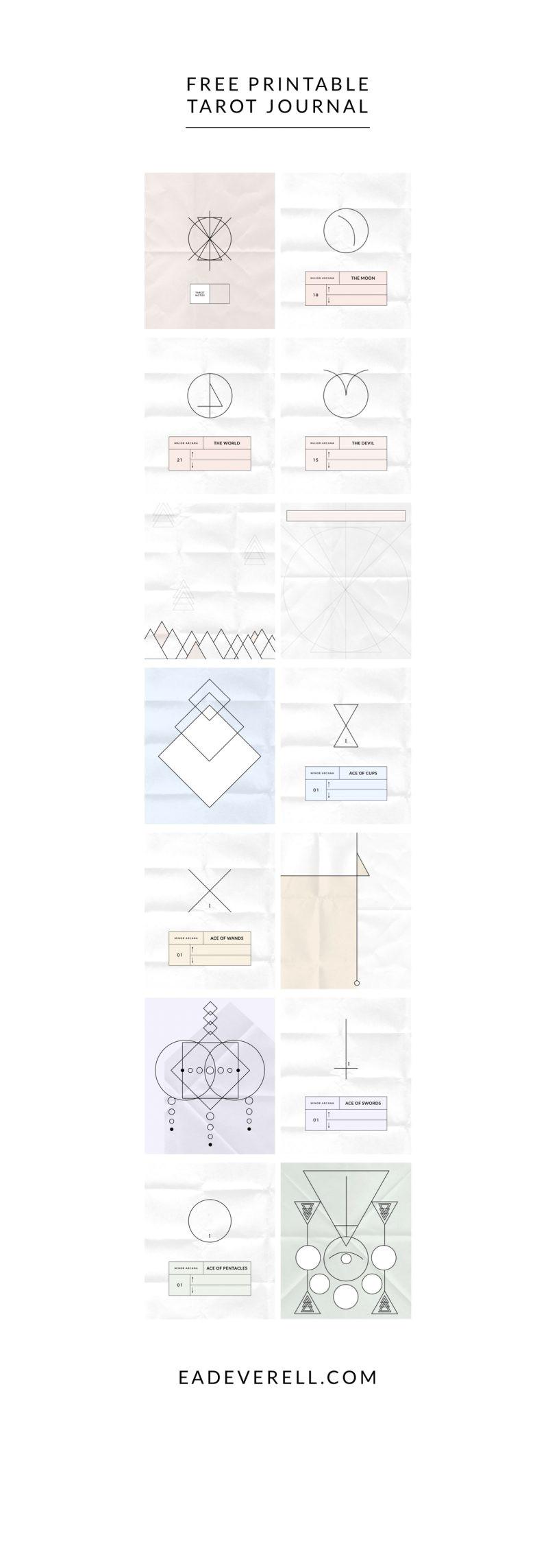 free printable tarot journal