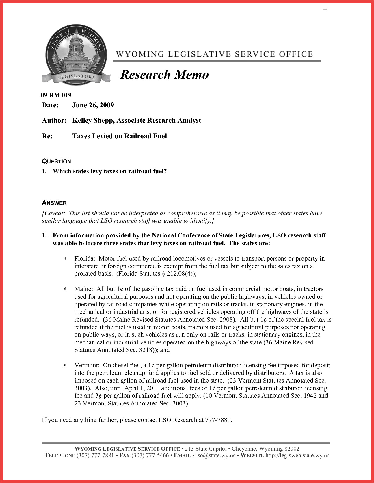 Tax Research Memo Template Tax Memo format Memo Example