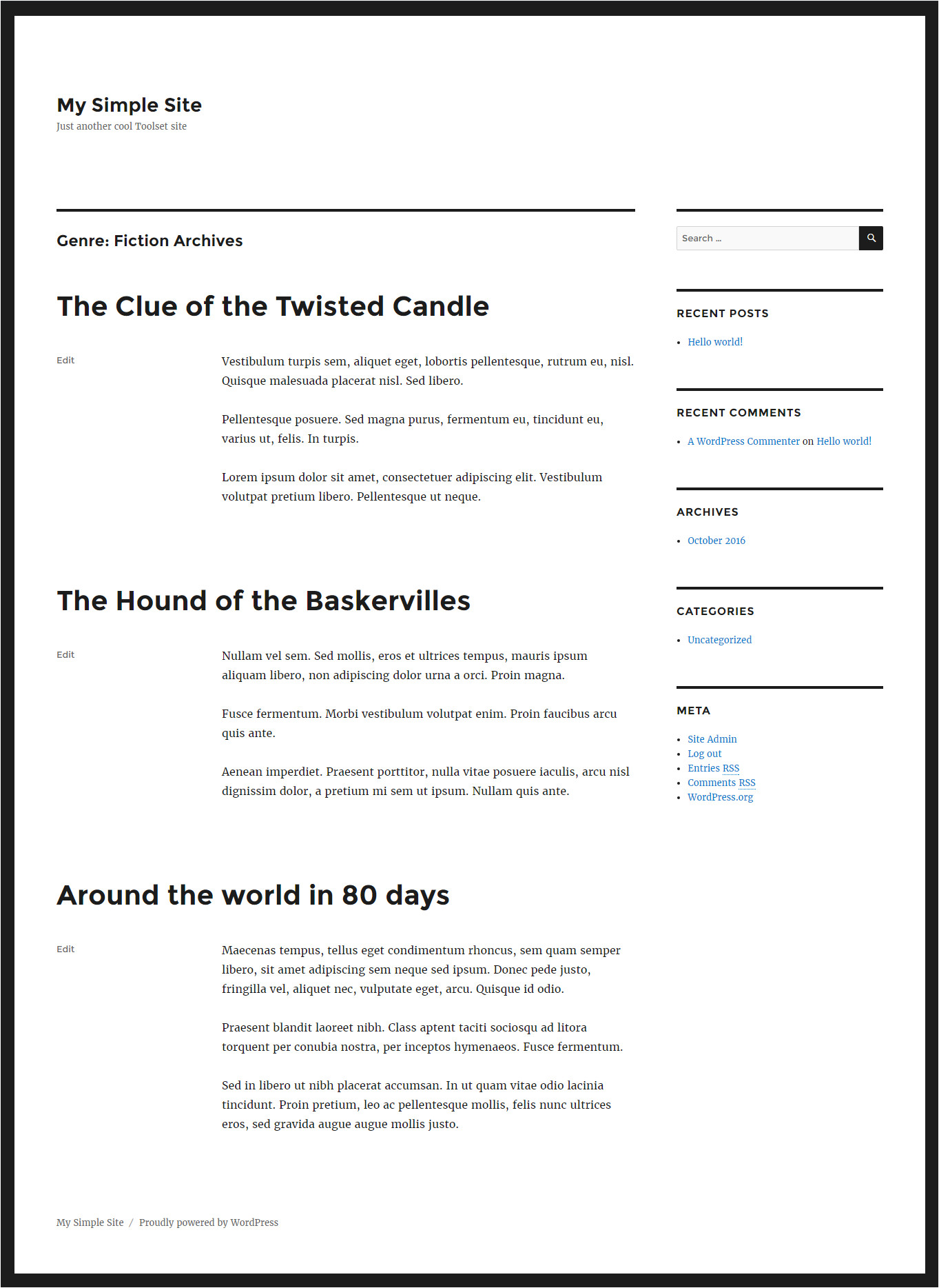 Taxonomy Page Template Creating Taxonomy Term Archives toolset