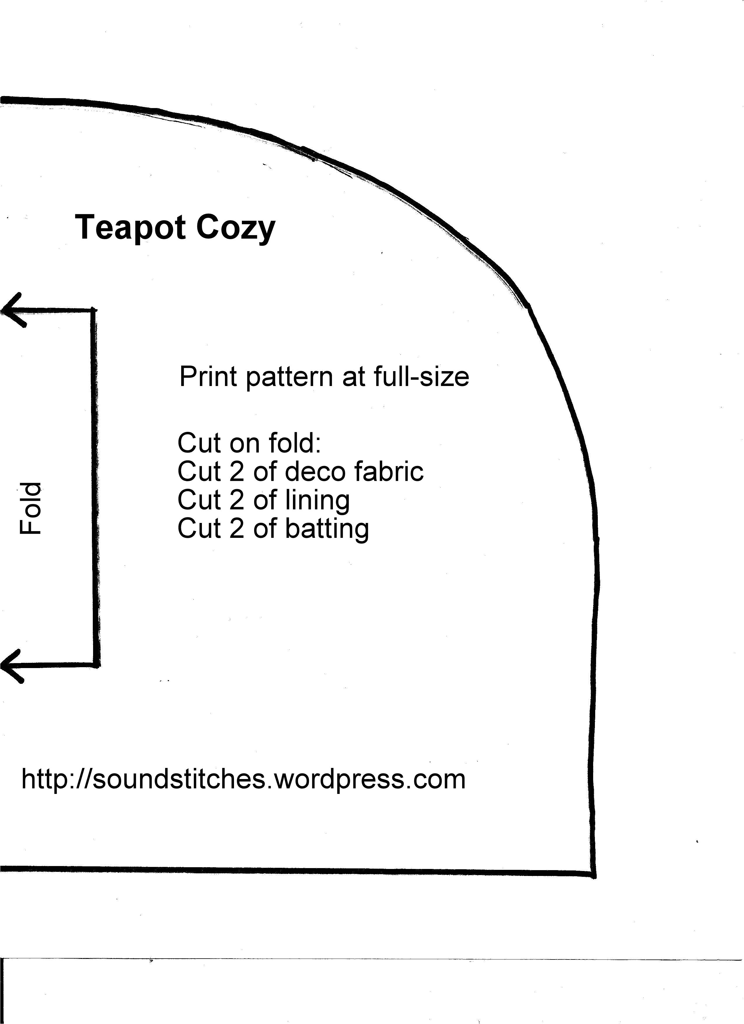 free teapot cozy pattern