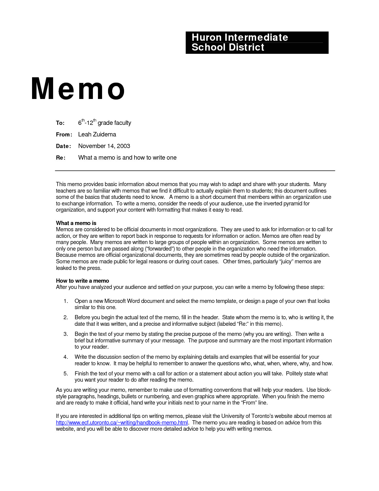 Teacher Memo Template Business Memo Examples Inter Office Sample Example