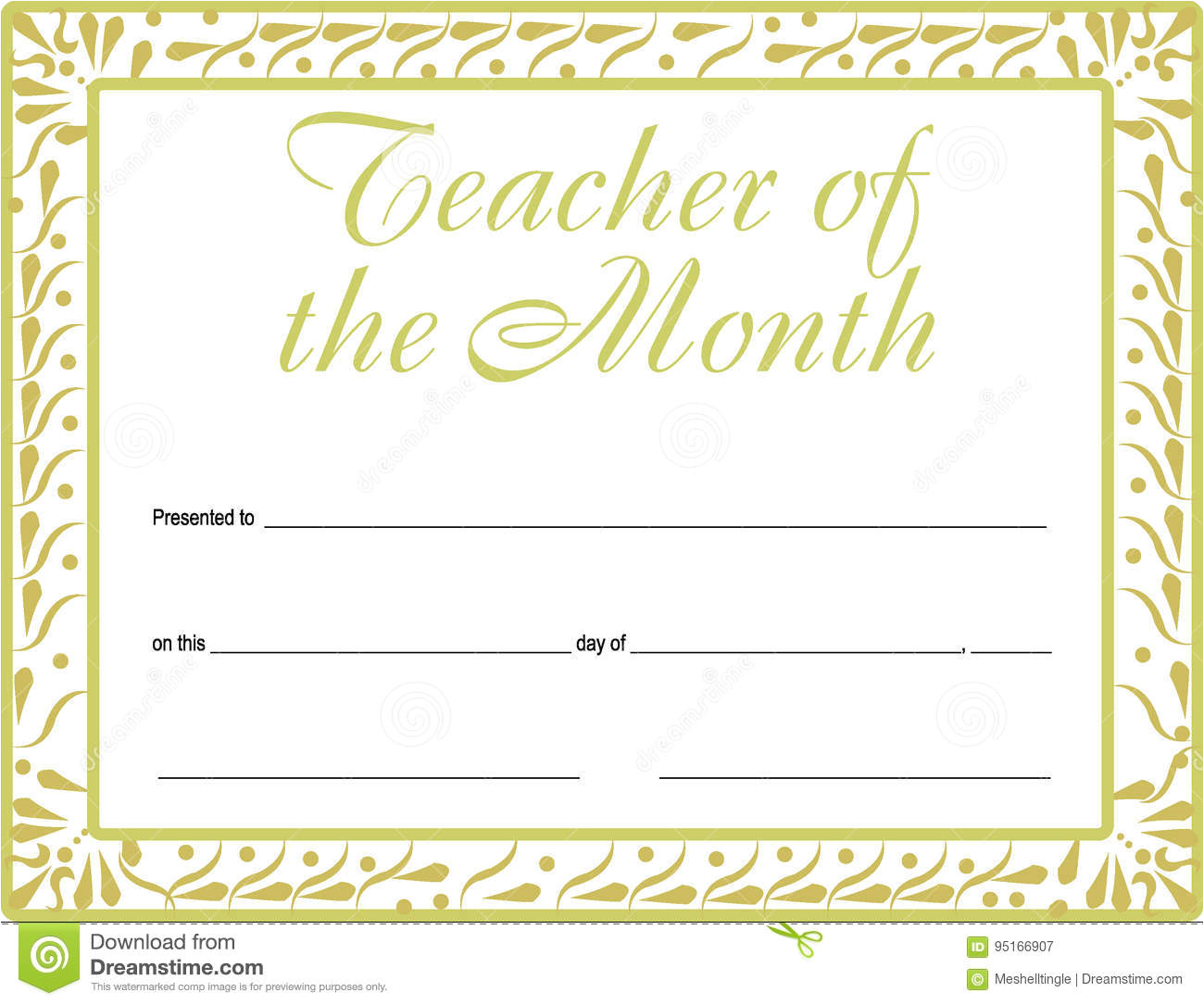 stock illustration teacher month certificate version available printable also format adjusting award blanks image95166907