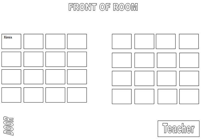 seating chart classroom
